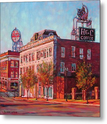 A Good Blend - H And C Coffee Sign And Dr. Pepper Sign In Roanoke Virginia Metal Print