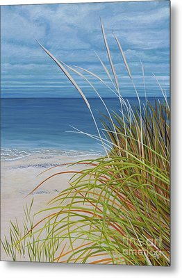 A Good Day For Beachcombing Metal Print by Barbara McMahon