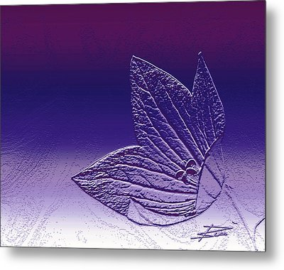 A Good Day For Purple Metal Print by Barbara  White