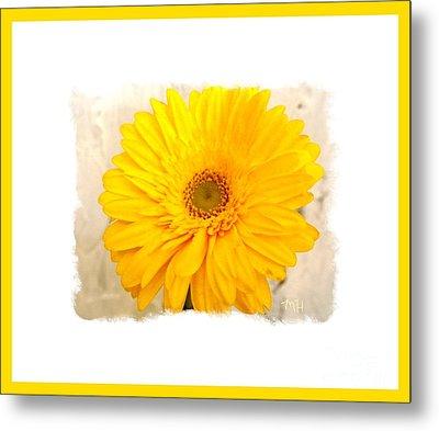 Metal Print featuring the photograph A Grand Yellow Gerber by Marsha Heiken