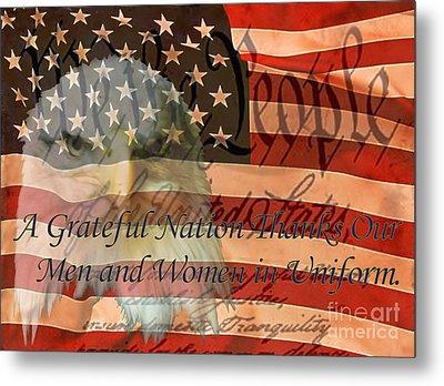 Metal Print featuring the photograph A Grateful Nation by Ken Frischkorn