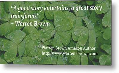 A Great Story Metal Print by Warren Brown