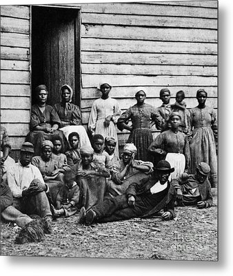 A Group Of Slaves Metal Print by Photo Researchers