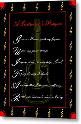 A Guitarist Prayer_1 Metal Print by Joe Greenidge