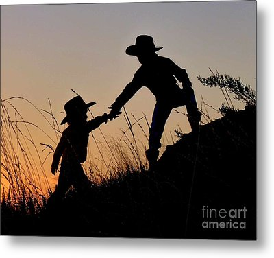 A Helping Hand Metal Print by Carla Froshaug