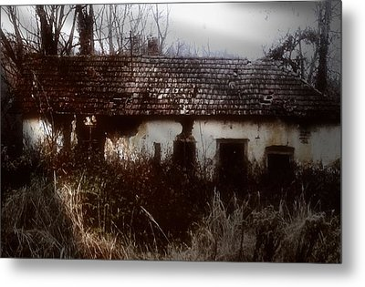 Metal Print featuring the photograph A House In The Woods by Mimulux patricia no No