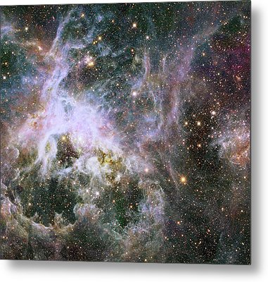Metal Print featuring the photograph A Hubble Infrared View Of The Tarantula Nebula by Nasa