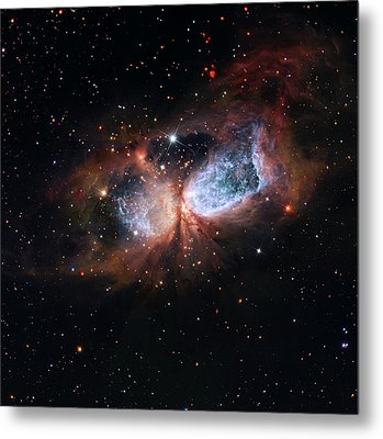 Metal Print featuring the photograph A Composite Image Of The Swan by Nasa