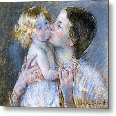 A Kiss For Baby Anne Metal Print