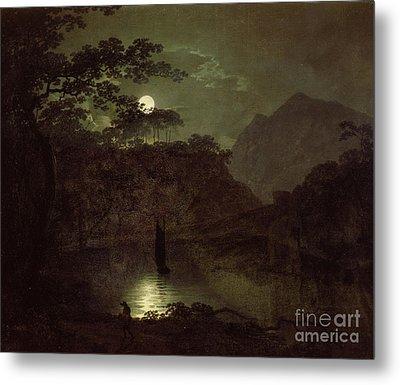 A Lake By Moonlight Metal Print