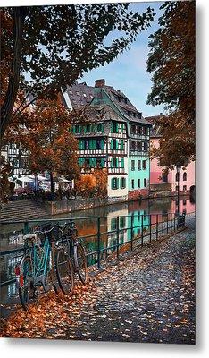A Leafy Lane In Strasbourg  Metal Print by Carol Japp
