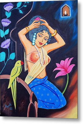 Metal Print featuring the painting A Life In Colour by Ragunath Venkatraman