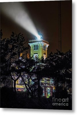 Metal Print featuring the photograph A Light In The Darkness by Nick Zelinsky