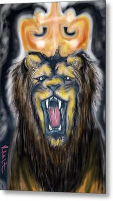A Lion's Royalty Metal Print