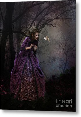 Metal Print featuring the digital art A Little Bird Told Me by Shanina Conway