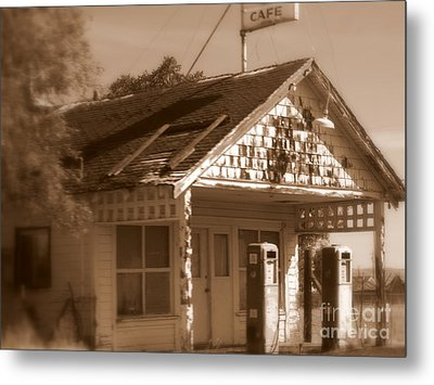 A Little Weathered Gas Station Metal Print by Carol Groenen