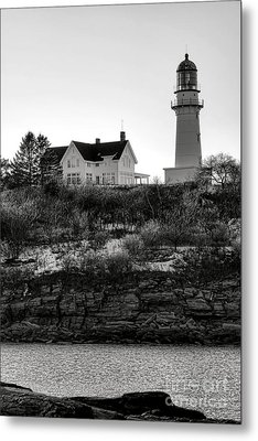 Metal Print featuring the photograph A Long Winter At Cape Elizabeth by Olivier Le Queinec