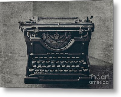 A Loss Of Words Metal Print by Emily Kay