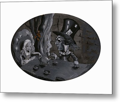A Mad Tea Party Metal Print by Luis  Navarro