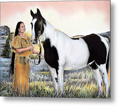 A Maiden And Spot A Special Bond Metal Print by Andrew Read