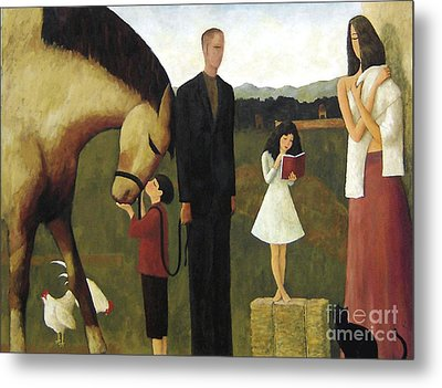 Metal Print featuring the painting A Man About A Horse by Glenn Quist