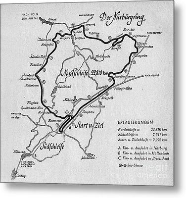 A Map Of The Nurburgring Circuit Metal Print