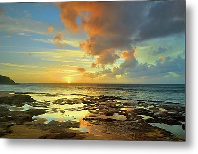 Metal Print featuring the photograph A Marmalade Sky In Molokai by Tara Turner
