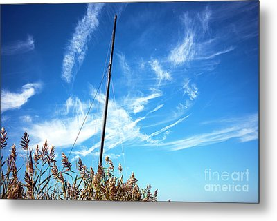 Metal Print featuring the photograph A Mast Appears by John Rizzuto