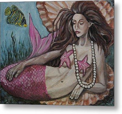 A Mermaid Named Pearl Metal Print
