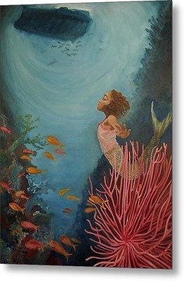 A Mermaid's Journey Metal Print by Amira Najah Whitfield