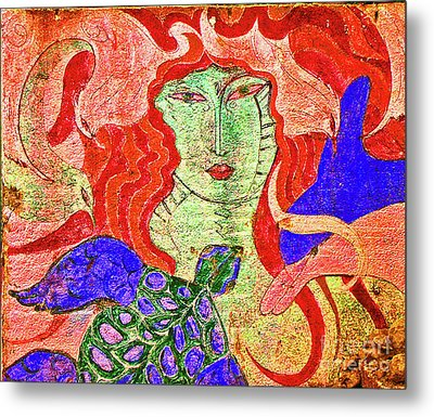 A Mermaids Life Metal Print