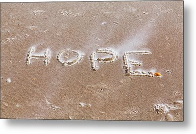 Metal Print featuring the photograph A Message On The Beach by John M Bailey