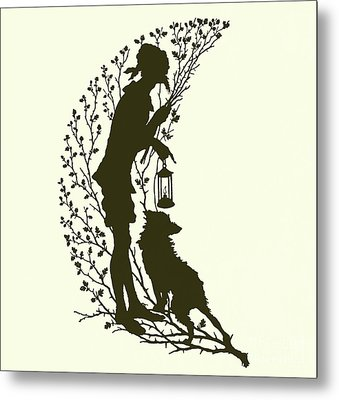 A Midsummer Night's Dream, Silhouette  Metal Print by Paul Konewka
