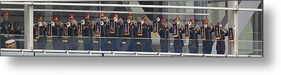 A Military Band Of Trumpeters Performs Metal Print by Panoramic Images