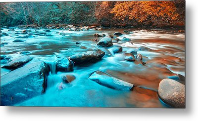 A Moment In The Great Smoky Mountains Metal Print by Rich Leighton