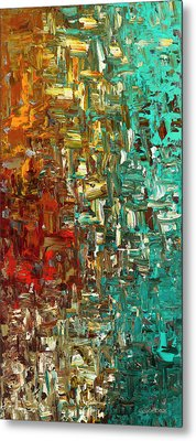 A Moment In Time - Abstract Art Metal Print