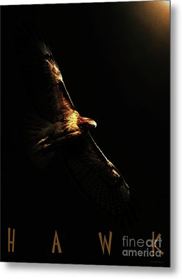 A Moment In Time . With Text Metal Print by Wingsdomain Art and Photography