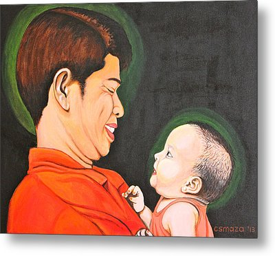 A Moment With Dad Metal Print by Cyril Maza