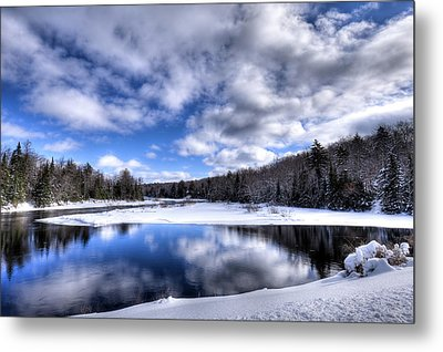 Metal Print featuring the photograph A Moose River Snowscape by David Patterson