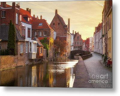 A Morning In Brugge Metal Print by JR Photography