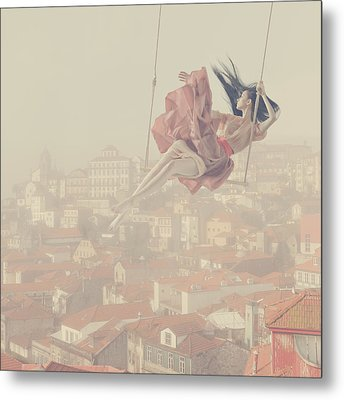 a morning over Oporto Metal Print by Anka Zhuravleva