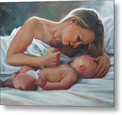 A Mother's Adoration Metal Print