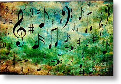 Metal Print featuring the digital art A Musical Storm 2 by Andee Design