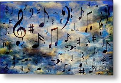 Metal Print featuring the digital art A Musical Storm 3 by Andee Design