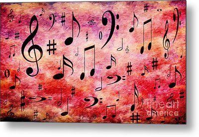 Metal Print featuring the digital art A Musical Storm 4 by Andee Design