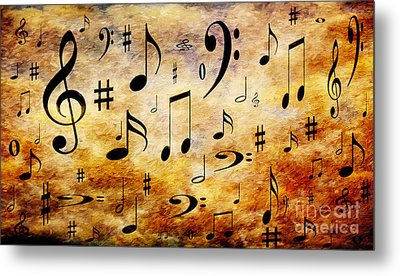 Metal Print featuring the digital art A Musical Storm by Andee Design