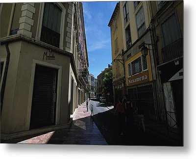 A Narrow Alley In Perpignan, France Metal Print by Stacy Gold