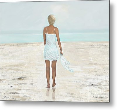 Metal Print featuring the painting A Natural Beauty by Leslie Allen