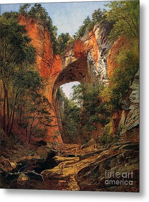 A Natural Bridge In Virginia Metal Print by David Johnson