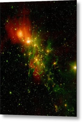 A Nebula Called Ngc 1333 In The Constellation Perseus Metal Print by American School